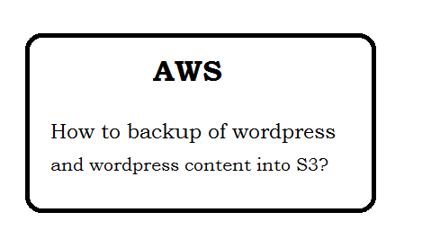 How to backup of wordpress into S3?