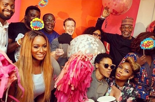 RMD, Rita Dominic, Stephaine Linus, Basketmouth, Toolz, Yemi Alade, others meet Mark Zuckerberg (see photos)