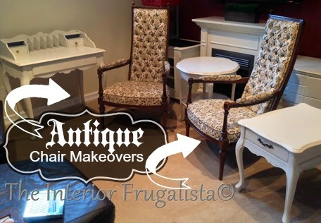 Antique Chair Makeovers BEFORE