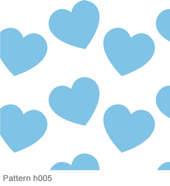 flamboyant line baby blue hearts pattern h005