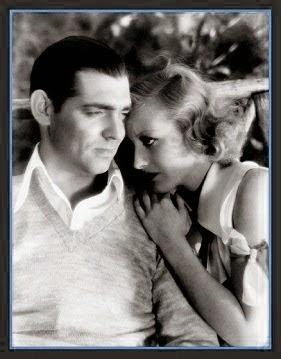 Fotografía de Crawford y Clark Gable de la película Laughing Sinners -1931 (Salvada)