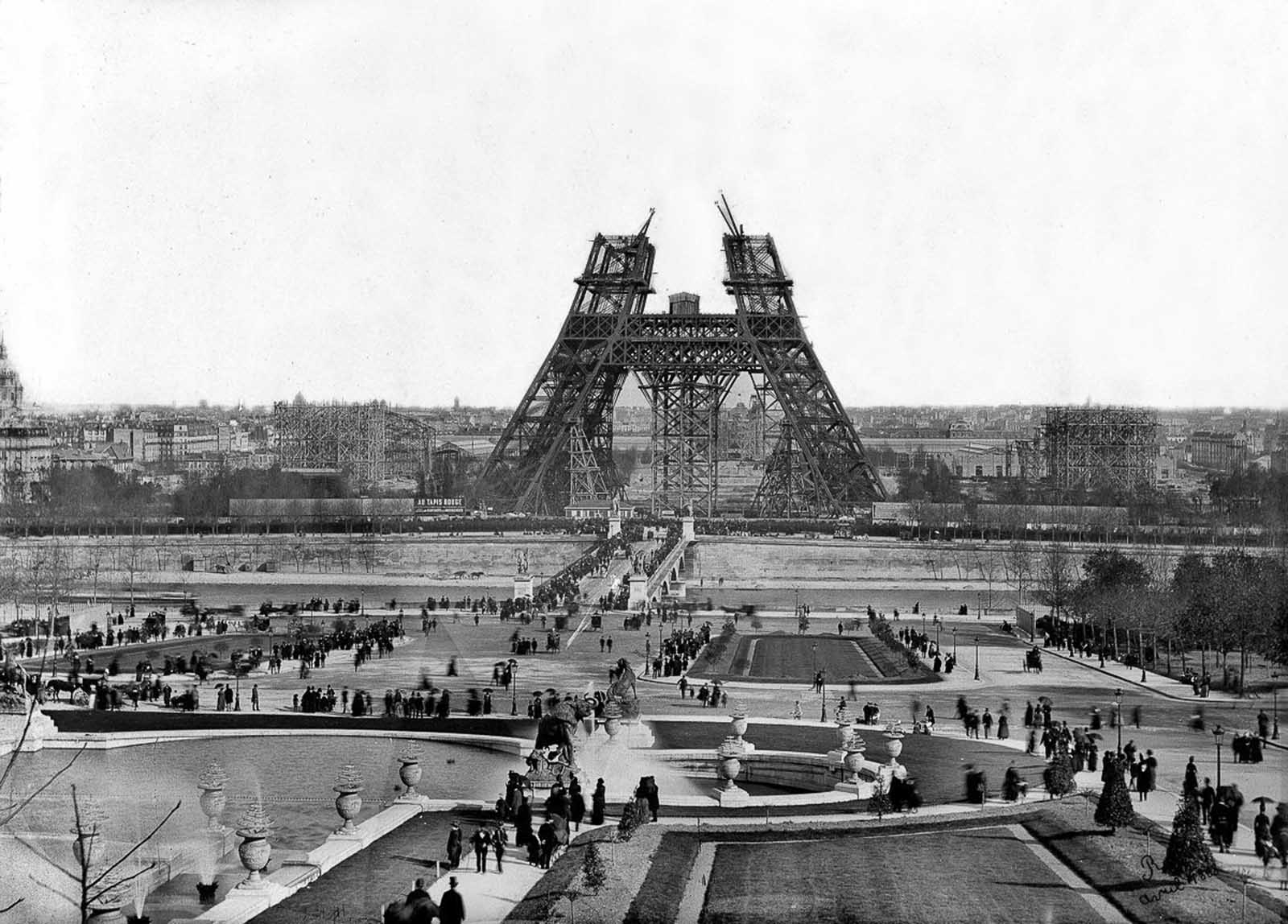 Start of construction on the second stage. May, 1888.