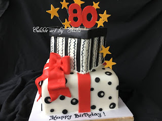 Gift Boxes Cake For An 80th Birthday