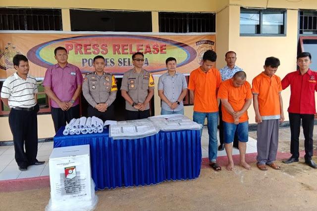 Dijanjikan Rp 100 Juta Gelembungkan Suara Caleg Gerindra, 3 Oknum PPK di Bengkulu Diringkus Polisi