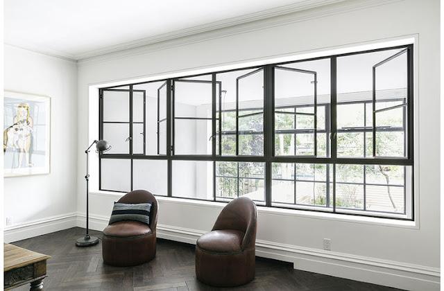 ventanas de hierro de inspiración industrial chicanddeco