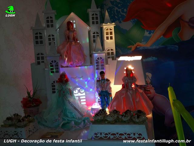 """Decoração """"A Pequena Sereia"""" - festa infantil - decoração de aniversário"""