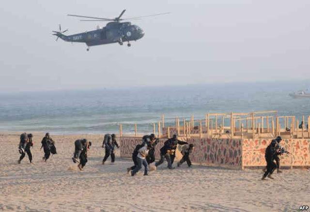 تدريبات عسكرية لإحدى القوات الخاصة في باكستان
