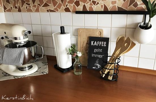 Blick durchs Schlüsselloch Küche Deko Schwarz Landhaus