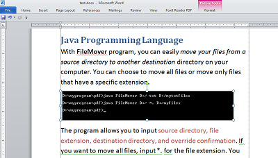 Java programs: Word to Pdf Converter