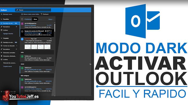 Como Activar Modo Oscuro de Outlook - Trucos Outlook
