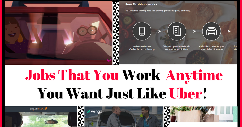 5 Jobs Like Uber - Work Anytime You Want! | Living Cheaply