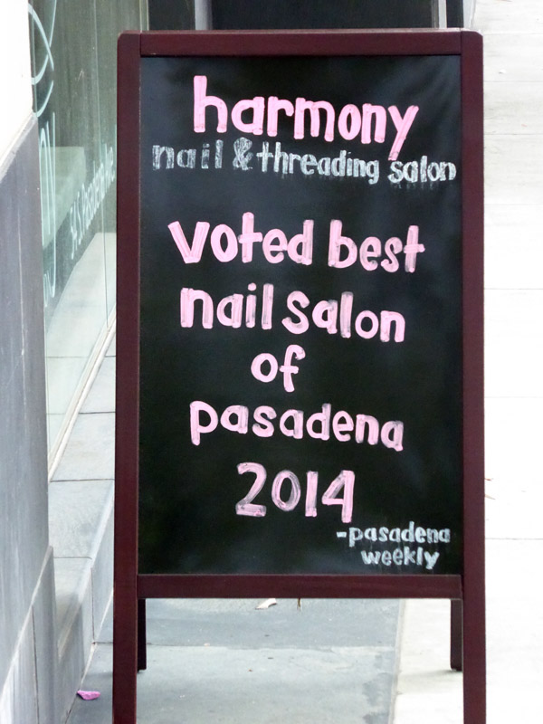 Musical terms in the marketplace - Harmony Nail Salon