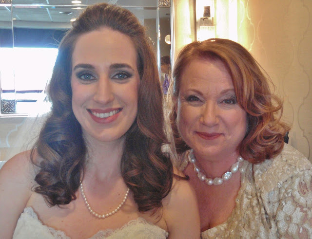 bride and mother of the bride makeup