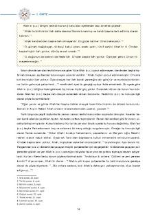 8. Sınıf Kuranı Kerim Ders Kitabı Cevapları Dikey Yayınları Sayfa 14