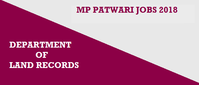 Madhya Pradesh Patwari Recruitment 2018