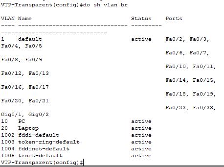 vlan database transparent