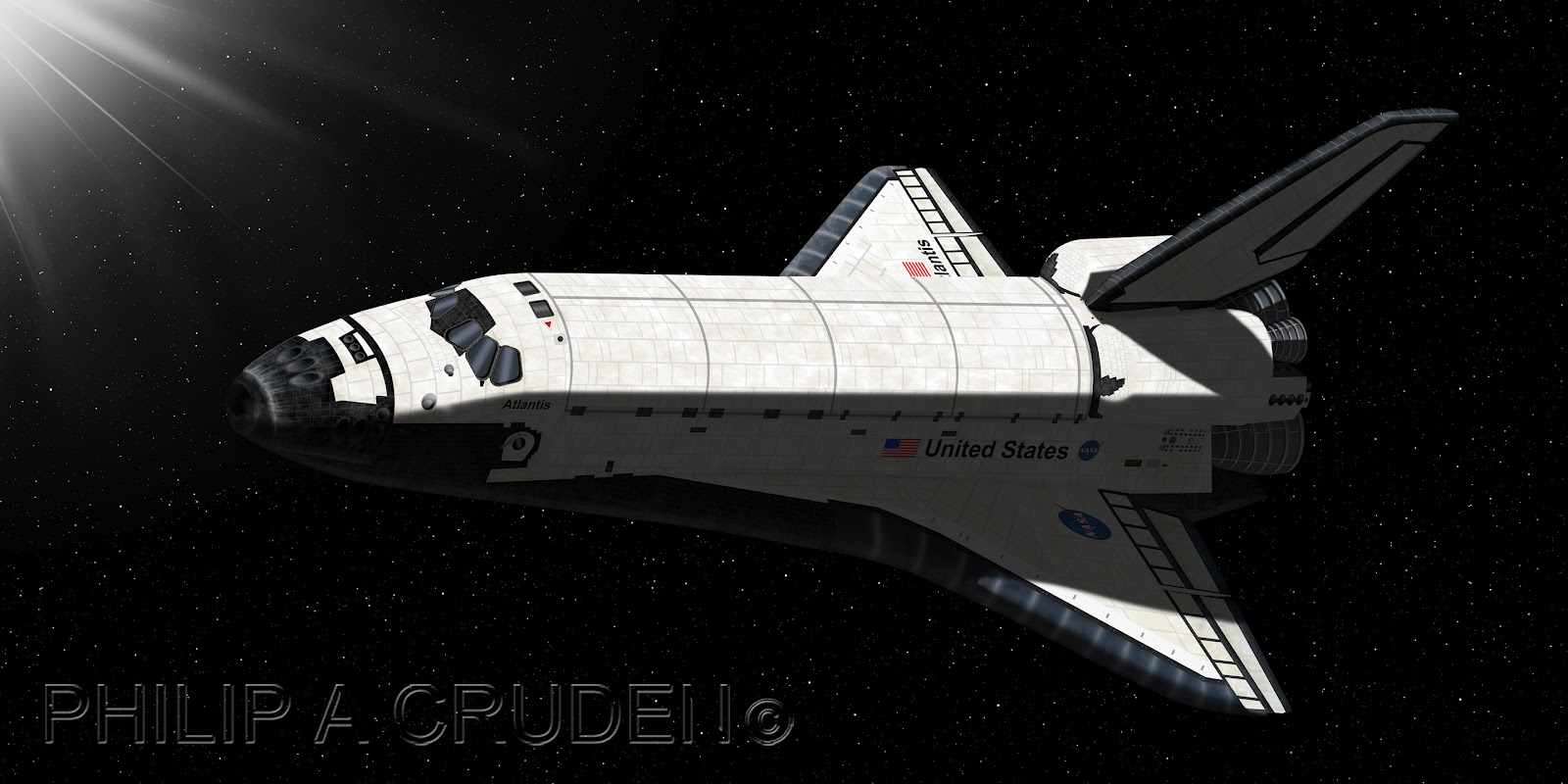 Space Shuttle in Thermosphere - Pics about space