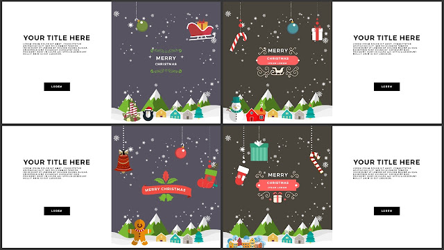 Animated Christmas Free PowerPoint Template Slide 21-24