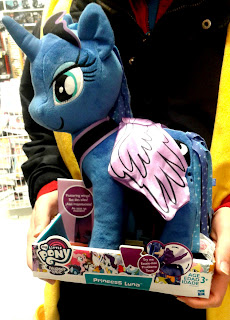 MLP Princess Luna Plush with Fluttering Wings