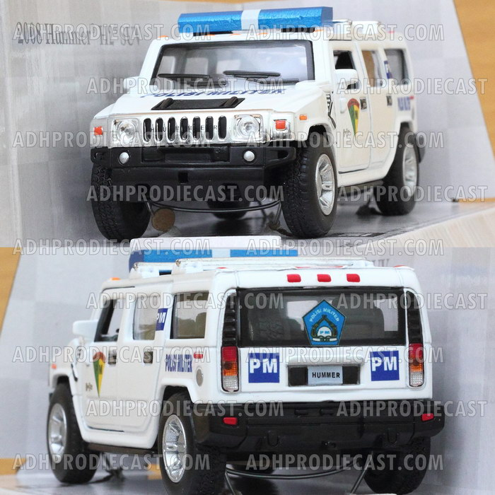 Miniatur Hummer H2 SUV PM (Polisi Militer) Indonesia