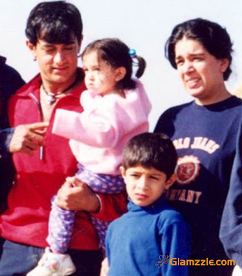 >Aamir khan and Reena Dutta family