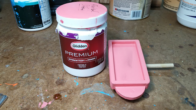 2017-05-08 18.44.30 - Wooden Toy - Play Pal - Trailer - Truck - Pink - Glidden - Paint