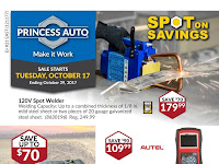 Princess Auto Flyers valid October 17 - 29, 2017