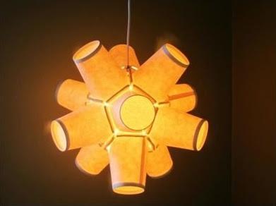 งานประดิษฐ์ทำโคมไฟจากแก้วกระดาษ