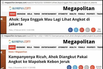 Dulu Ahok Bilang Enggak Mau Lagi Lihat Ada Angkot di Jakarta, Kemarin Dikejar Warga Dia Ngacir Naik Angkot