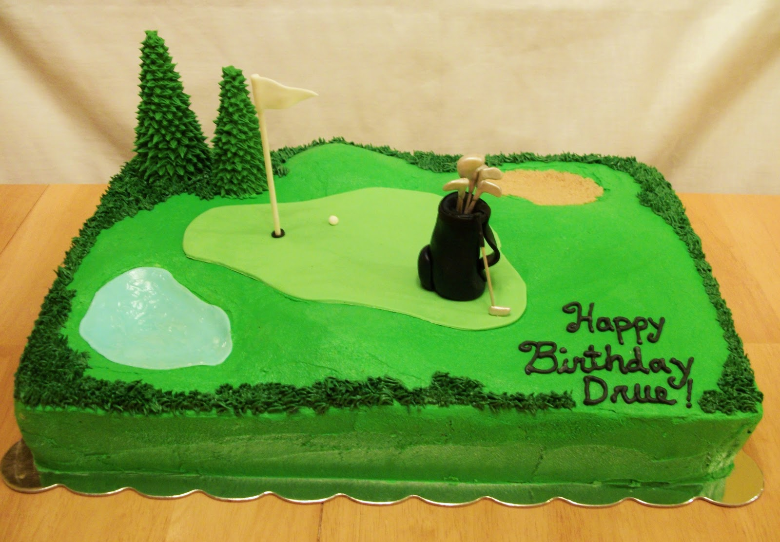 Golf Cake Decorating Ideas Round