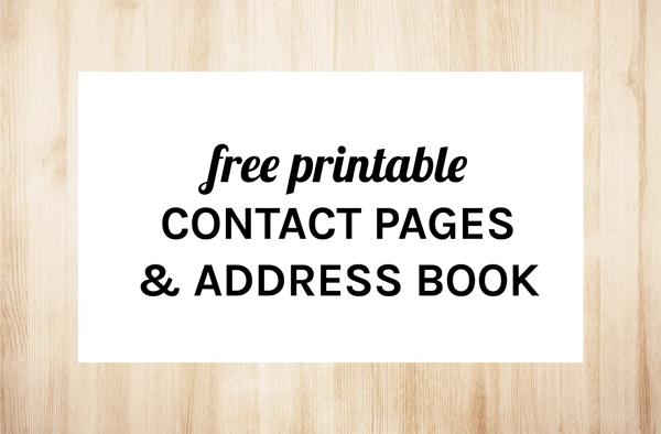 Printable address book free download maxwellsz
