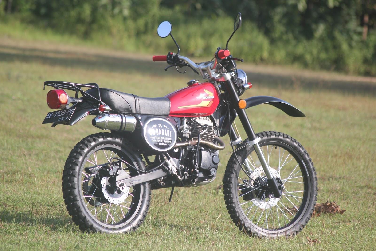 Kumpulan 100 Modifikasi Motor Trail Tua Terunik Rante Modifikasi