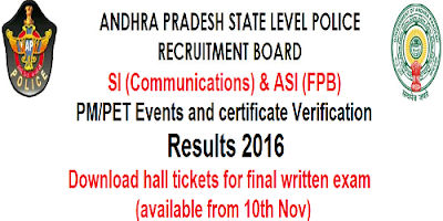 AP SI & ASI (FPB) Results 2016