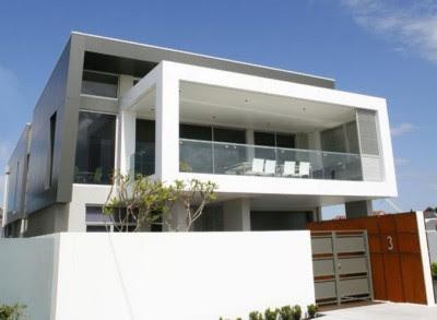 tampak depan rumah minimalis 2 lantai model baru