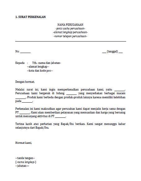 10 Contoh Surat Surat Bisnis Untuk Perusahaan Bahasa