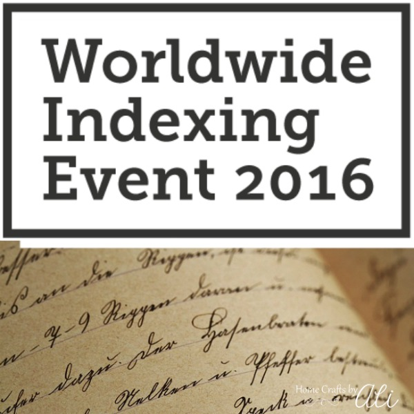 Worldwide Indexing Event 2016 FamilySearch Genealogy Family History