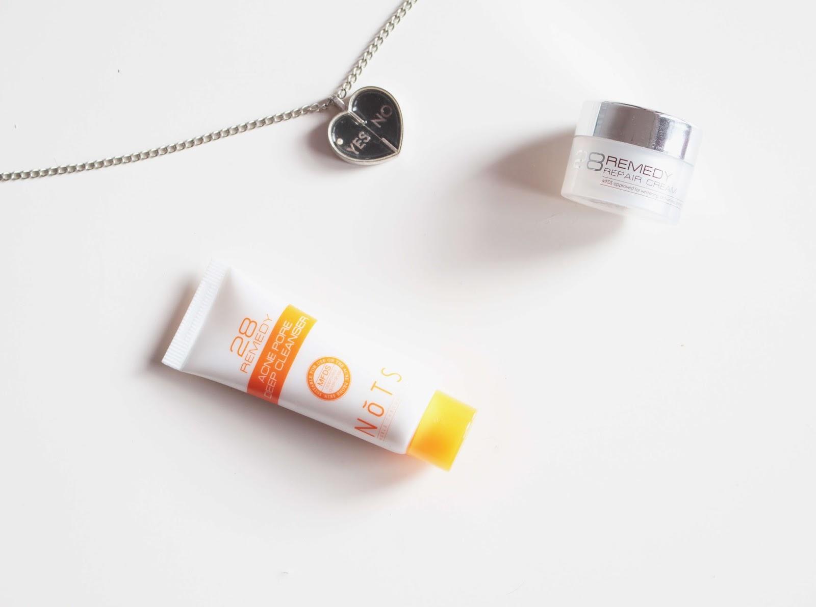 NoTS 28 Remedy Deep Cleanser & Repair Cream review