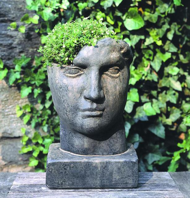 Pot Head Planters: Inspire Bohemia: Stone Head Garden Planters