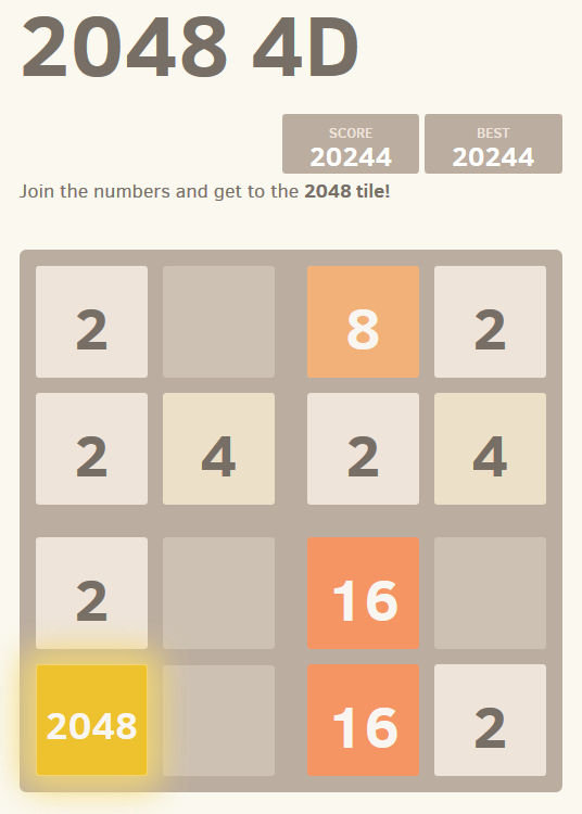 Without Geometry, Life is Pointless: 2048