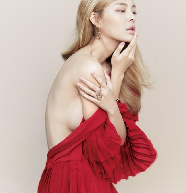 Gucci 2015 AW Red Layered Silk Satin Georgette Plisse Ruffle Dress Editorials