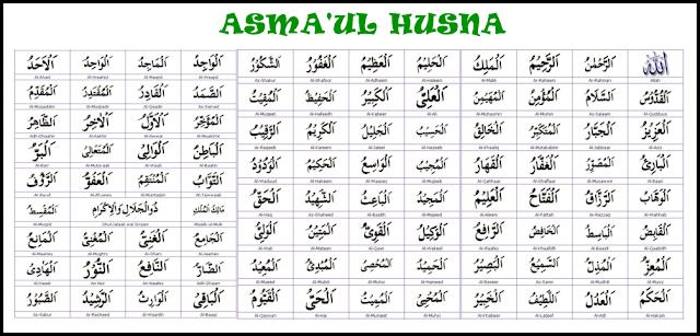 Kumpulan Asmaul Husna Latin Lengkap dengan Tulisan Arab dan Artinya