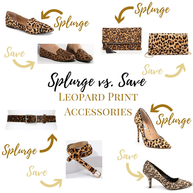 Items for every budget, this list includes leopard print flats, pumps, clutches, and belts.