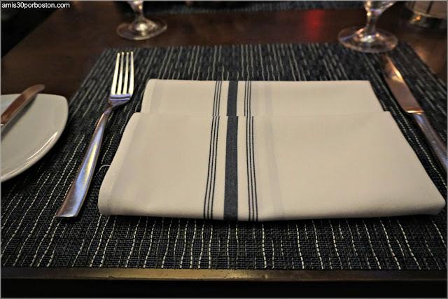 Mesa del Restaurante Oceana en Nueva York