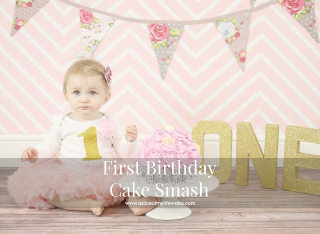 first birthday cake smash pink themed girl