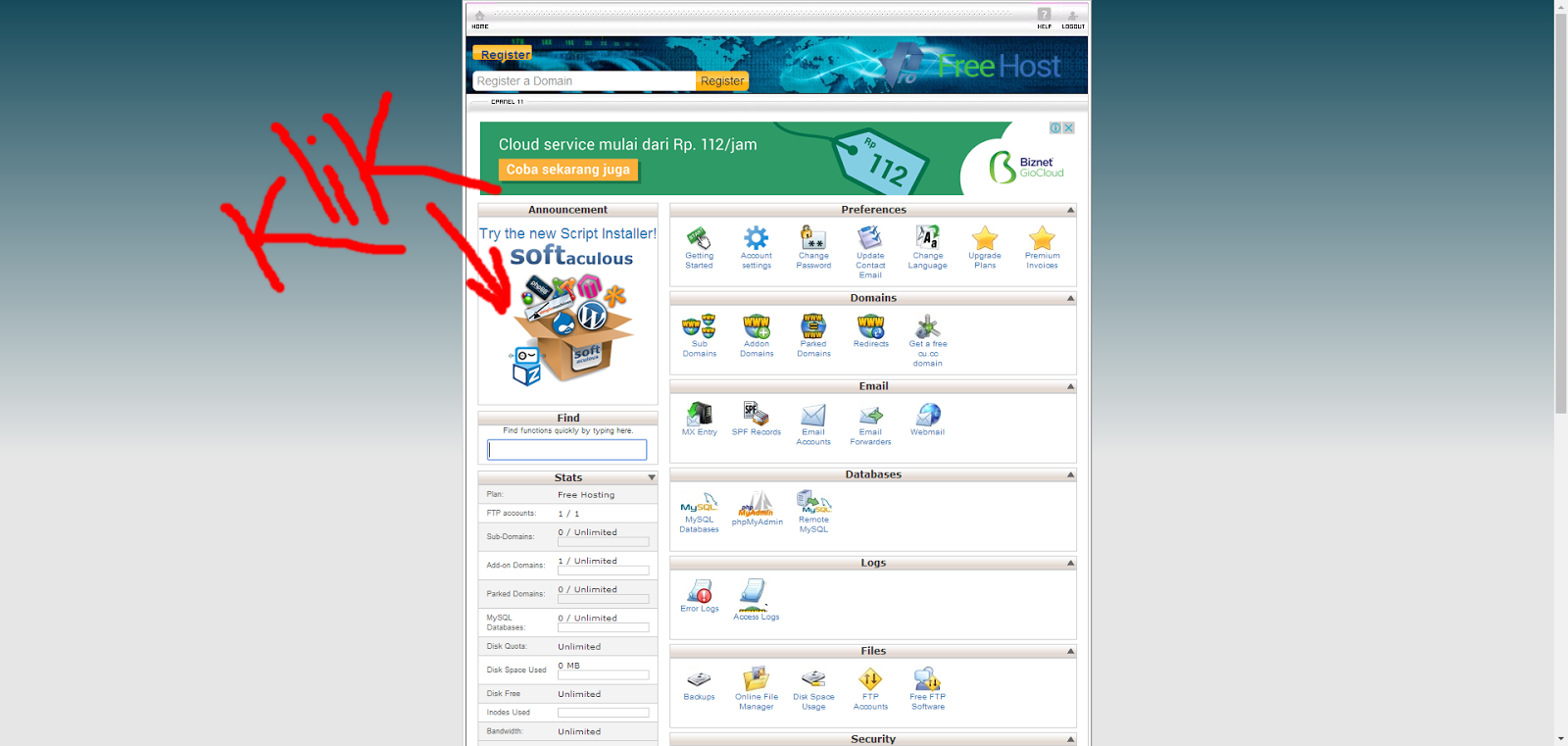 how to add domain to hosting cpanel