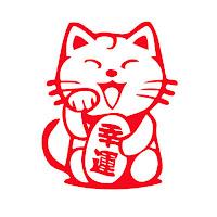 Maneki-neko-colores-rojo