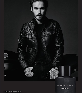 David Flinn is the face of Kenneth Cole new fragrance Black Gold AD Campaign. See more at JasonSantoro.com