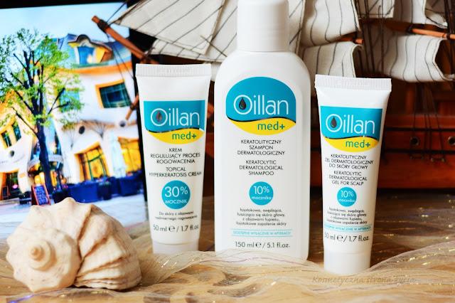 Oillan Med+ szampon keratolityczny, żel keratolityczny, krem