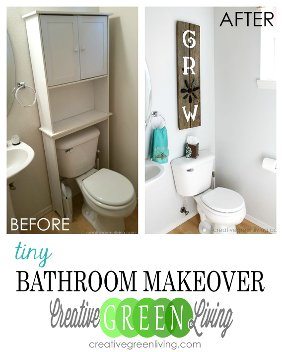 Before And After Bathroom Makeovers On A Budget: Tiny Bathroom Makeover On A Budget