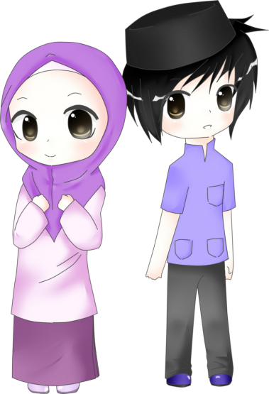 Kumpulan Gambar Animasi Wanita Muslimah Terbaru Kartun Png